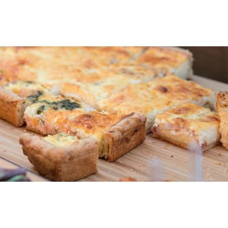Quiche Saumon en plaque (30x40cm) 48 portions