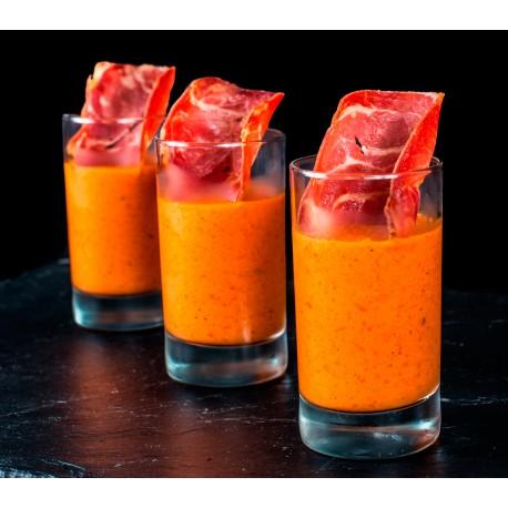 Mini Verrines Poivron Bacon Piment d espelette