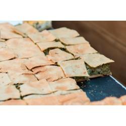Tourte Courgette en plaque (30x40cm) 48 portions