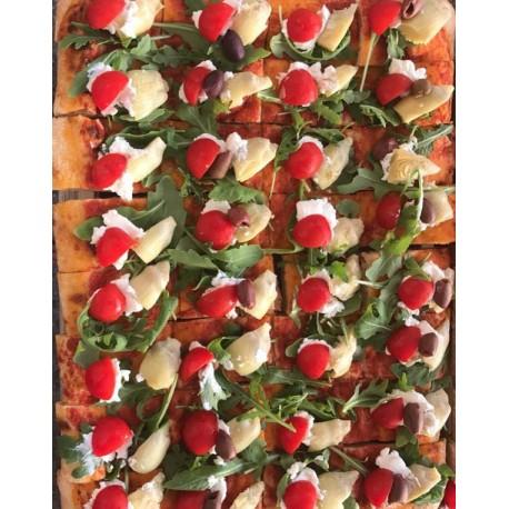 Focaccia Garnis Tomate Cerise Artichaux en plaque (30x40cm) 48 portions