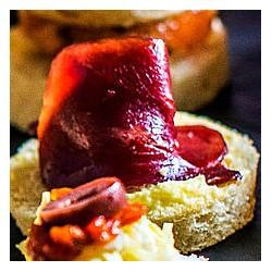 Canape Magret de Canard Tomate confite